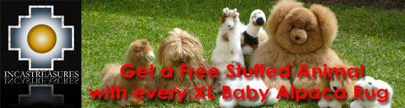 Free Stuffed animal With every XL Rug