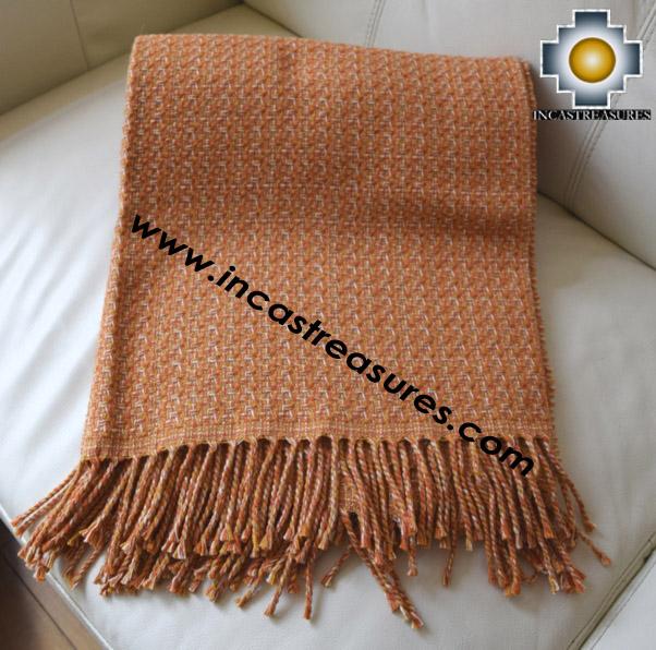 Alpaca Blanket lucuma  - Product id: alpacablanket16-01