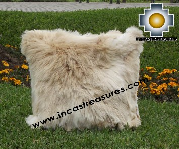 100% Baby Alpaca Cushion one side SURI Black - Product id: Alpaca-cushion12-05beige Photo03