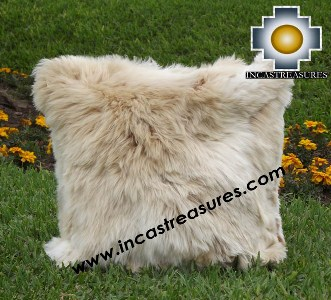 100% Baby Alpaca Cushion one side SURI Black - Product id: Alpaca-cushion12-05beige Photo01