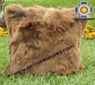 100% Baby Alpaca Cushion Both Sides Premium SURI Brown - Product id: Alpaca-cushion12-10brown Photo02
