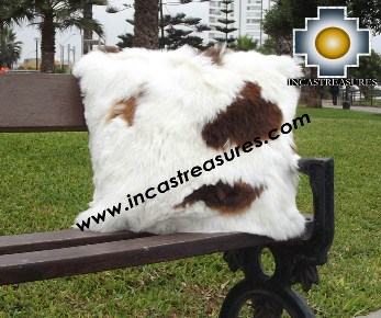 100% Baby Alpaca Cushion both side Premium SURI spotted - Product id: Alpaca-cushion12-07spotted Photo04