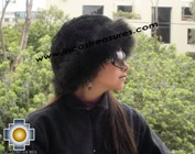 Alpaca fur hat cuajone black - Product id: ALPACA-FUR-HAT-11-03 Photo03