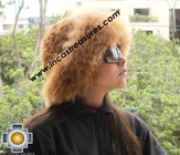 Alpaca fur hat cuajone camel - Product id: ALPACA-FUR-HAT-11-05 Photo03