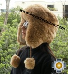 Alpaca fur hat earflaps chullo - Product id: ALPACA-FUR-HAT-11-06 Photo02
