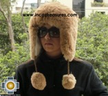 Alpaca fur hat earflaps chullo - Product id: ALPACA-FUR-HAT-11-06 Photo01