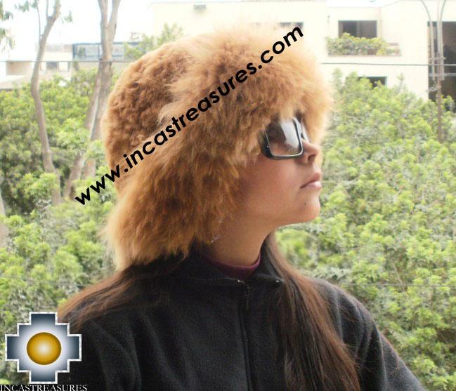 Alpaca Fur Hat Cuajone camel