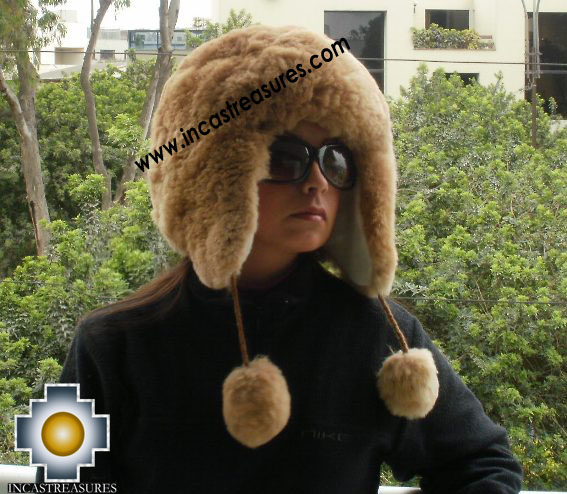 Alpaca fur hat earflaps chullo - Product id: ALPACA-FUR-HAT-11-06