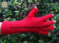 100% Alpaca Wool Knit Fingerless Gloves Solid Color - Product id: ALPACAGLOVES09-36 Photo02