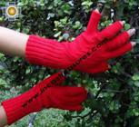 100% Alpaca Wool Knit Fingerless Gloves Solid Color - Product id: ALPACAGLOVES09-36 Photo01