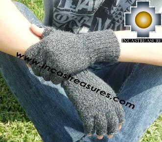 100% Alpaca Wool Fingerless Gloves RUMI  - Product id: ALPACAGLOVES09-21 Photo01