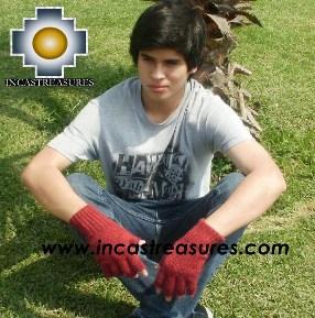 100% Alpaca Wool Fingerless Gloves runa  - Product id: ALPACAGLOVES09-21 Photo03