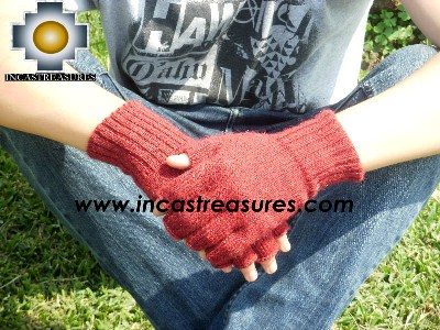 100% Alpaca Wool Fingerless Gloves runa  - Product id: ALPACAGLOVES09-21 Photo01