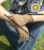 100% Alpaca Wool Fingerless Gloves uma  - Product id: ALPACAGLOVES09-21 Photo02