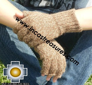100% Alpaca Wool Fingerless Gloves uma  - Product id: ALPACAGLOVES09-21 Photo01