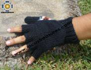 100% Alpaca Wool Hand Knit Mittens Mitts TUTA - Product id: ALPACAGLOVES09-01 Photo04