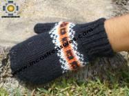 100% Alpaca Wool Hand Knit Mittens Mitts TUTA - Product id: ALPACAGLOVES09-01 Photo05