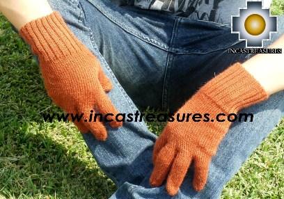 100% Alpaca Wool gloves orange - Product id: ALPACAGLOVES09-06 Photo03