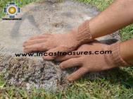100% Alpaca Wool gloves clay PHASA