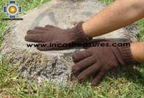 100% Alpaca Wool gloves Brown PUNA