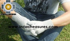 100% Alpaca Wool gloves silver - Product id: ALPACAGLOVES09-06 Photo02