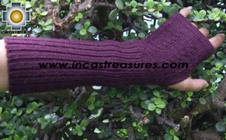 100% Alpaca Wool Wrist Warmers Gloves Solid Color - Product id: ALPACAGLOVES09-35 Photo06