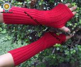 100% Alpaca Wool Wrist Warmers Gloves Solid Color - Product id: ALPACAGLOVES09-35 Photo01