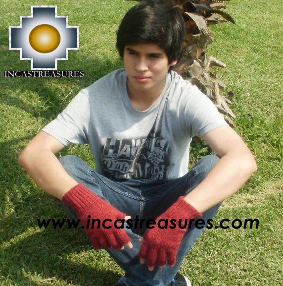 100% Alpaca Wool Fingerless Gloves runa  - Product id: ALPACAGLOVES09-21