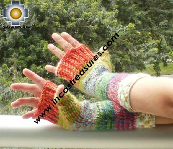 Alpaca Wool Hand Knit Mittens gloves chunka - Product id: ALPACAGLOVES09-57Photo02