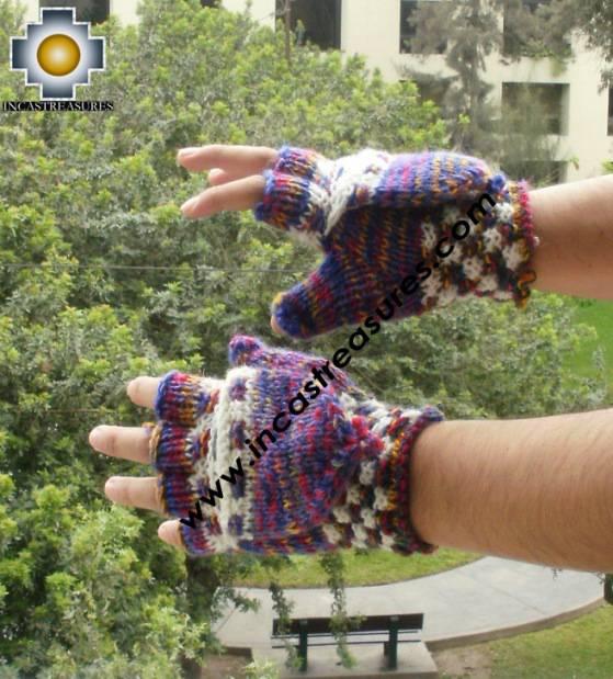 Alpaca Wool Hand Knit Mittens gloves kimsa - Product id: ALPACAGLOVES09-45 Photo02