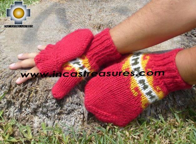 100% Alpaca Wool Hand Knit Mittens Mitts PUKA