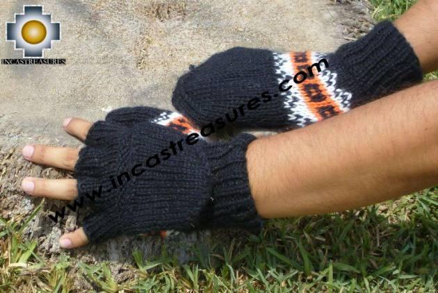 100% Alpaca Wool Hand Knit Mittens Mitts TUTA - Product id: ALPACAGLOVES09-01