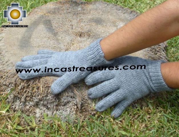 100% Alpaca Wool gloves Silver Gray QULQI - Product id: ALPACAGLOVES09-03 Photo02