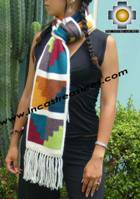 Alpaca Scarf with chakana camucamu  - Product id: alpaca-scarf-04 Photo02