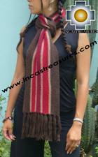 Alpaca Scarf with stripes ollantaytambo  - Product id: alpaca-scarf-03 Photo03