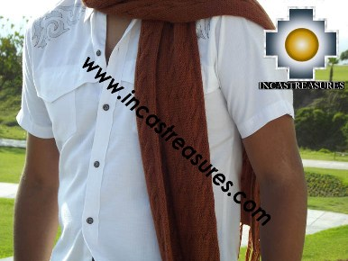 Alpaca Wool Scarf yawar  - Product id: alpaca-scarf-14 Photo04