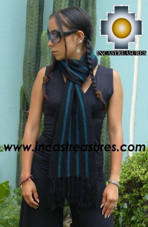 Alpaca Scarf with stripes Pisac  - Product id: alpaca-scarf-01