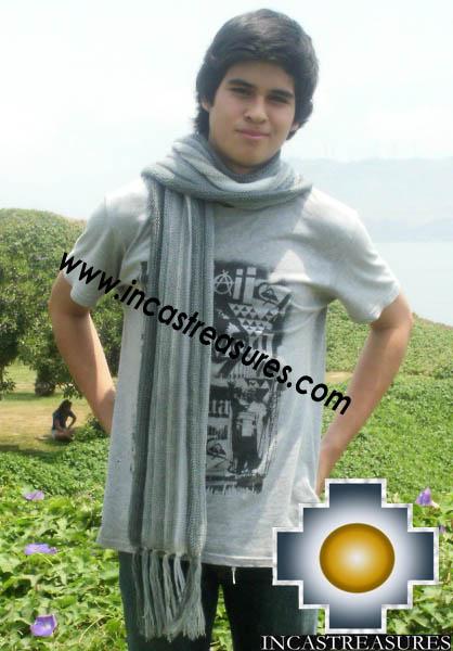 Alpaca Wool Scarf silverline  - Product id: alpaca-scarf-21