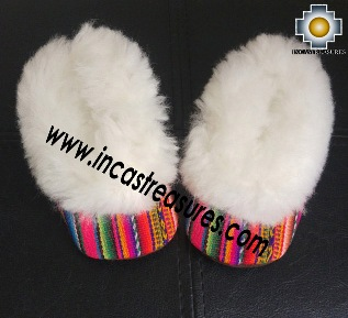 100% Baby Alpaca and Bayeta Slippers Princess for Babies