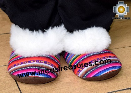 100% Baby Alpaca and Bayeta Slippers Princess