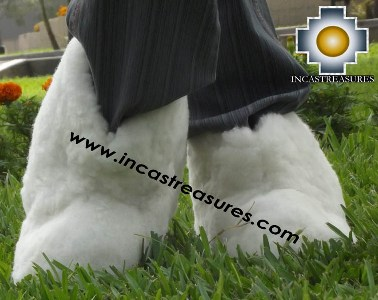 Baby Alpaca Slipper White Yeti - Product id: ALPACASLIPPERS13-01 Photo04