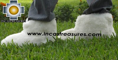 Baby Alpaca Slipper White Yeti - Product id: ALPACASLIPPERS13-01 Photo03