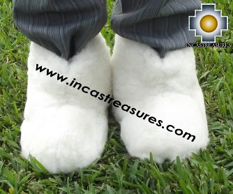 Baby Alpaca Slipper White Yeti - Product id: ALPACASLIPPERS13-01 Photo02