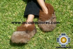 Baby Alpaca Slipper brown Ampato - Product id: ALPACASLIPPERS09-02 Photo03