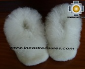Baby Alpaca Slipper white Wawa - Product id: ALPACASLIPPERS09-03 Photo02