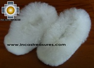 Baby Alpaca Slipper white Wawa - Product id: ALPACASLIPPERS09-03 Photo03