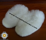 Baby Alpaca Slipper white Wawa - Product id: ALPACASLIPPERS09-03 Photo04
