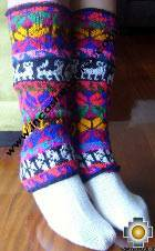 Alpaca Leg Warmers Huancavelica - Product id: ALPACASOCKS09-08 Photo01