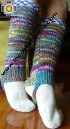 Alpaca Leg Warmers sunrise - Product id: ALPACASOCKS09-09 Photo03