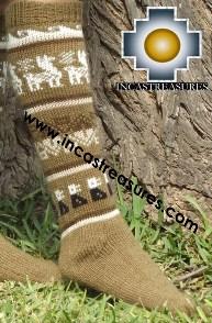 Long 100% Alpaca Socks Classic camel - Product id: ALPACASOCKS13-02 Photo03